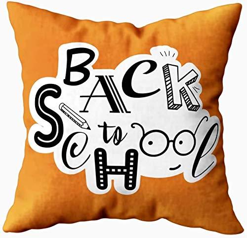 Keyboard cover Funda de cojín de 18 x 18 cm, diseño de la educación, fondo escolar con letras dibujadas