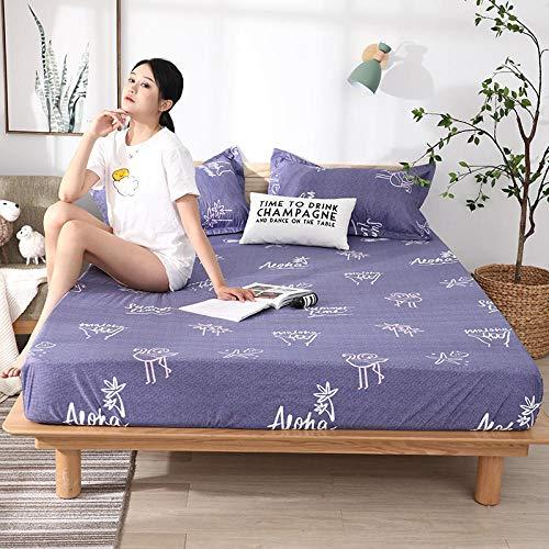 RESUXI matrasbeschermer, waterdichte urine-proof bed cover, effen kleur anti-slip ademende stofdichte matrashoes