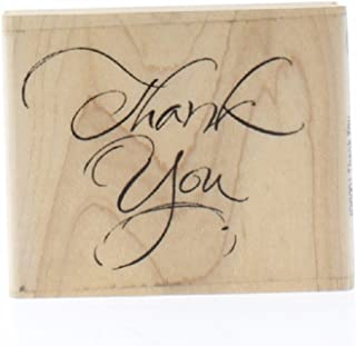 Wood Handle Rubber Stamp - Thank You