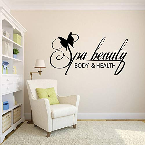 Beauty Spa Haarverzorging Barber Muurstickers Vrouw Mooie Decal Lashes Stickers Schoonheidssalon Naam Uren Telefoonnummer 083RE