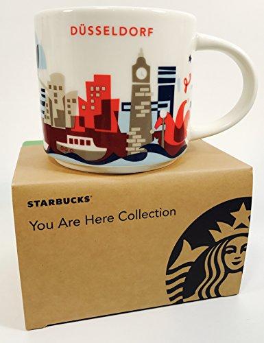 Starbucks Your Are HERE Collection (YAH) Düsseldorf Deutschland Kaffeetasse Coffee (weiß, rot)