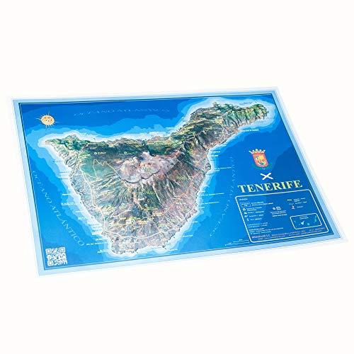 Mapa en relieve de Tenerife: Escala 1:212.000
