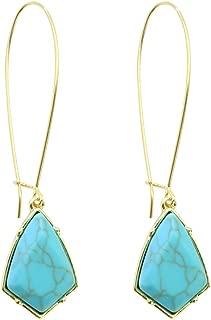 18k Gold Plated Turquoise Earrings Dangle Drop Earrings For Women,Girls' Gifts