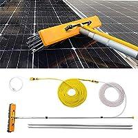 YNWUJIN 屋外の清掃ツール太陽光発電のパネル水のスプレーブラシ、専門の高高度の窓ガラスツール、車のキャラバントラックのための4.5-12枚の洗浄装置の延長極,7.5M / 24.6フィート