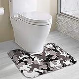 Hoklcvd Alfombra de baño de Camuflaje Gris Antideslizante para Agua Absorbente del Inodoro, baño. Compre alfombras de baño en línea a los Mejores Precios