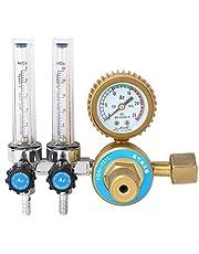 Heitune 0.25MPa Argon Gas Drukregelaar Regulator Double Gauge Meter Lasschoen