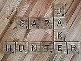 CELYCASY Carreaux de Scrabble - Grandes Lettres de Scrabble - Décoration Murale - Lettres de Scrabble - Carrelage de prénom Personnalisable