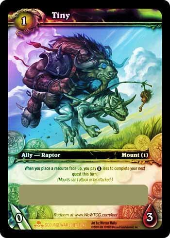 World of Warcraft Scourgewar Mount Loot Card TINY [Toy]