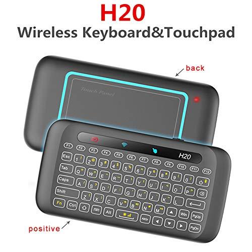 Preisvergleich Produktbild CAPTIANKN Mini Touch Keyboard,  H20+ 2.4GHz Wireless Full Touchpad Fernbedienung