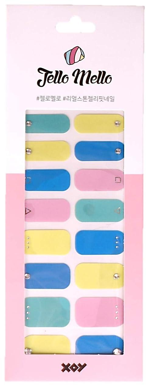 免除するすみませんパーチナシティ[NJELL PICK] Vivid palette (ビビッドカラー) -ブルー、イエロー、ミント、ピンク、キュービックストーン、フルカラーネイル、キュート -ネイルラップ、ネイルパッチ、マニキュアストリップ、マニキュアシール