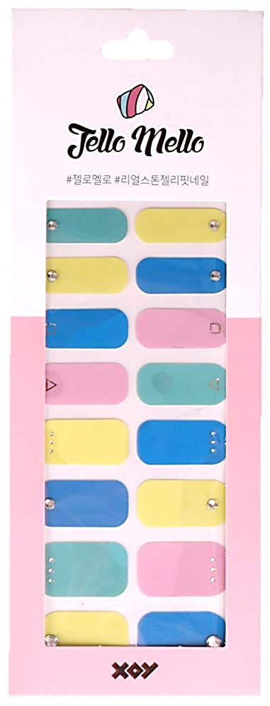 本物の金貸しファッション[NJELL PICK] Vivid palette (ビビッドカラー) -ブルー、イエロー、ミント、ピンク、キュービックストーン、フルカラーネイル、キュート -ネイルラップ、ネイルパッチ、マニキュアストリップ、マニキュアシール