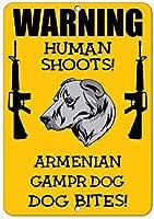 ヴィンテージルックレプリカメタルサインアルメニアGampr犬犬人間シュートFun-Style2519プラーク家の装飾警告ガレージギフトガーデンファッションポスター