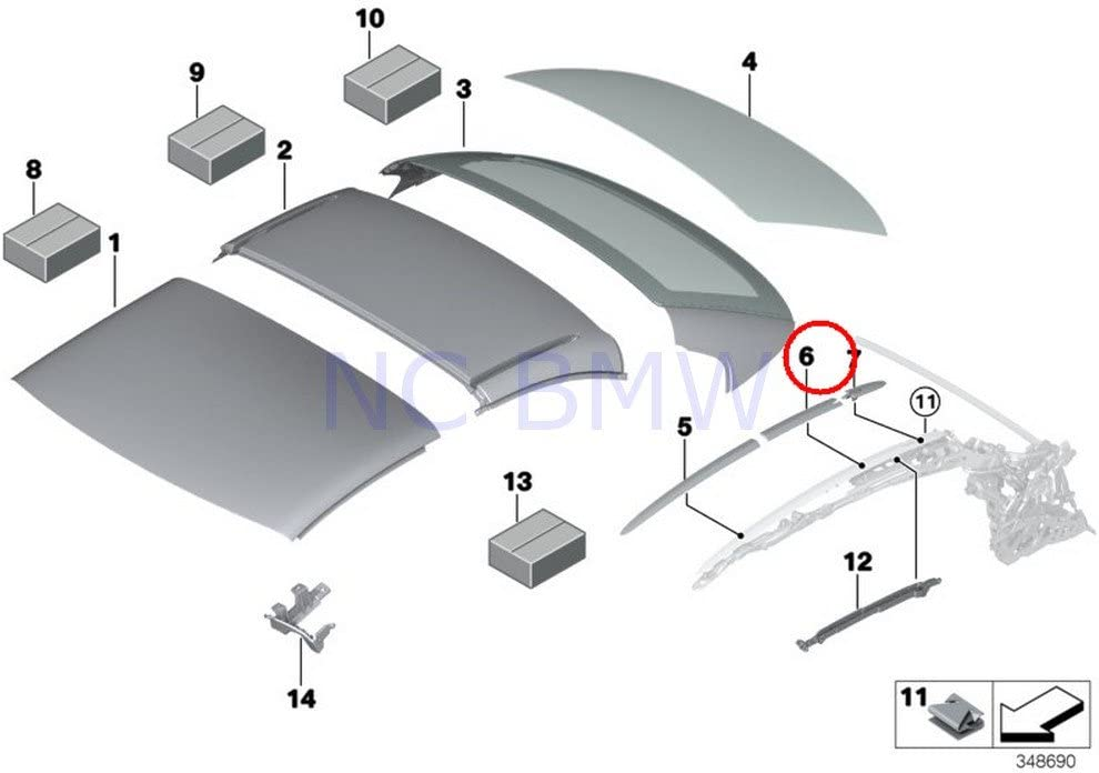 BMW Genuine Roof Molding Right Finally resale shopping start Prime-Coated