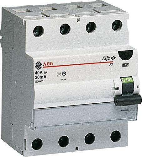 GE Fehlerstromschutzschalter 40A, 4-polig, 0,03A, 604.208