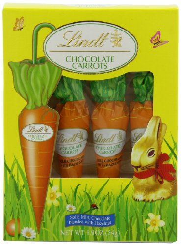 Lindt Chocolate Carrots, 4-Count,1.9oz from Lindt Chocolate