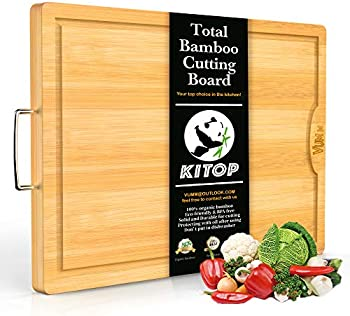 Kitop Large & Extra-Thick Bamboo Cutting Boards