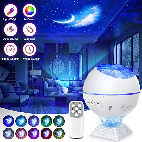 Galaxy Projector 3 in 1 Ocean Wave Projector Night Light Star Projector with Remote Control product image