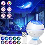Galaxy Projector 3 in 1 Ocean Wave Projector Night Light Star Projector with Remote Control Voice Control, Nebula Cloud Mini 360 Pro Light for Bedroom Ceiling Car Kid Adult Gift with 43 Light Modes