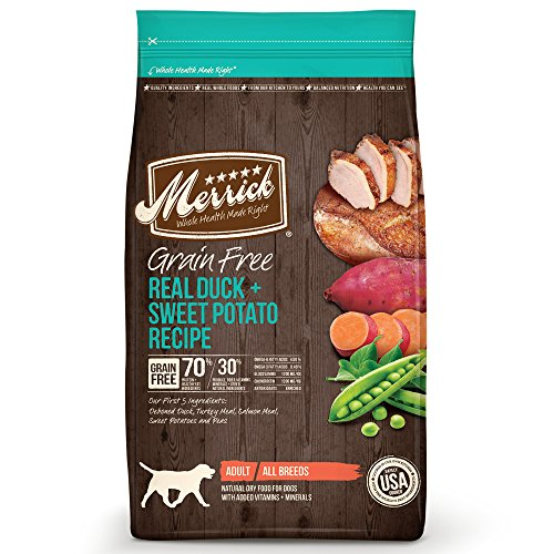 Merrick Grain Free Dry Dog Food Recipes, Duck, 25 Pound