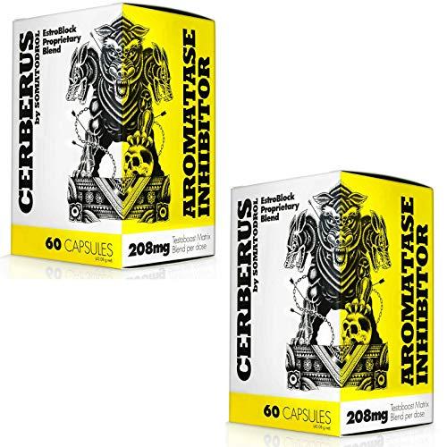 Iridium Labs - Cerberus   Booster de testostérone + anti œstrogène   Complément alimentaire pour hommes   Inhibiteur d'aromatase   Soutien hormonal   La musculation (120 gélules = 2 boîtes)
