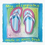 Sandals Sea Sand Flip Beach Hawaii Slippers Flops Ocean Home Decor Wall Art Print Poster !