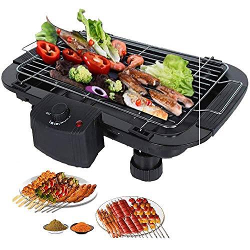Tragbarer elektrischer Grill Indoor Tragbarer Grill-Elektroherd mit 5 Temperatureinstellungen für Home Party Picknick Schwarz 2000W