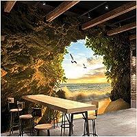Xbwy 装飾壁画洞窟自然風景壁紙壁画リビングルーム背景壁の装飾壁画-200X140Cm