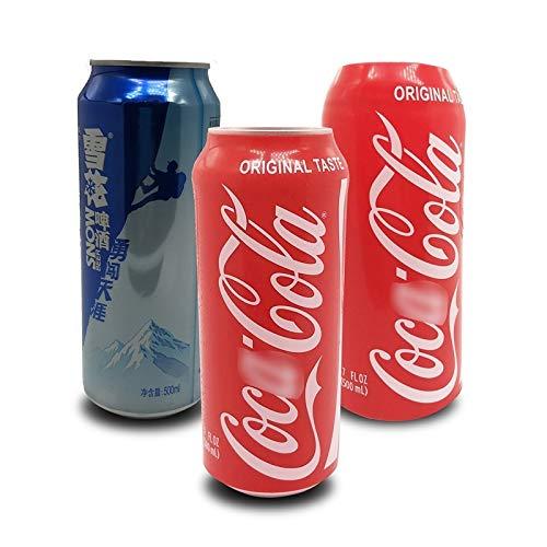 USPANDI 500ml ausblenden EIN Bier zu Decken Cola Bierflasche Cup-Abdeckung Hülle Can Flaschenhalter Thermal-Beutel for Camping-Reisen Wandern (Color : 2pcs 500ml)