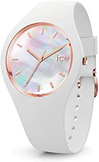 Ice-Watch - Ice Pearl White - Montre Blanche pour Femme avec Bracelet en Silicone - 016936 (Medium)