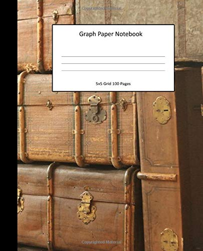 Graph Paper Notebook 5x5 Grid 100 Pages: Suitcases