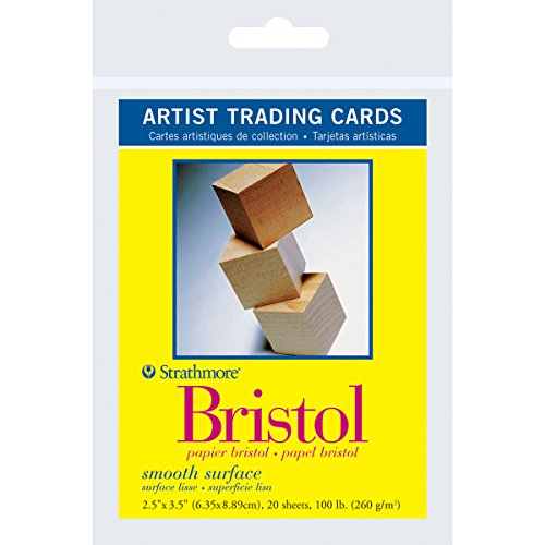 "Strathmore Artist Trading Cards 2.5""X3.5"" 20/Pkg-Bristol Smooth"