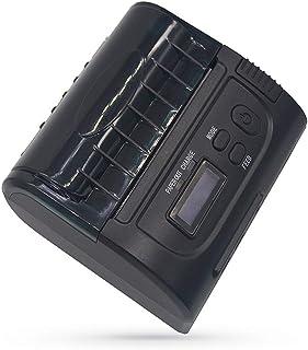 80Mm Portable Mini Thermal Printer with Bluetooth Status Screen Display,Mini USB Receipt Ticket POS Printer Printing for I...
