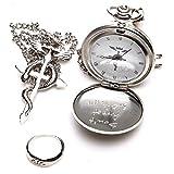 GUGUBU Fullmetal Alchemist Brotherhood Edward Elric Reloj de bolsillo Anillo y collar Boxset Don't Forget 3. octubre 11