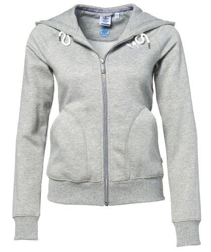 adidas Damen Kapuzenjacke College Fleece, medium grey heather, 36, W64396