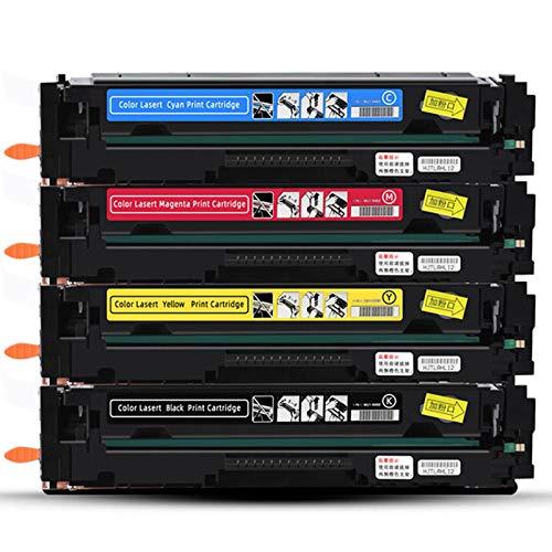 203A Cartucho de tóner Compatible con láser de Color Jet Pro M254DN M254DW M254NW MFP M280NW Cartucho (con Chip),4 Color