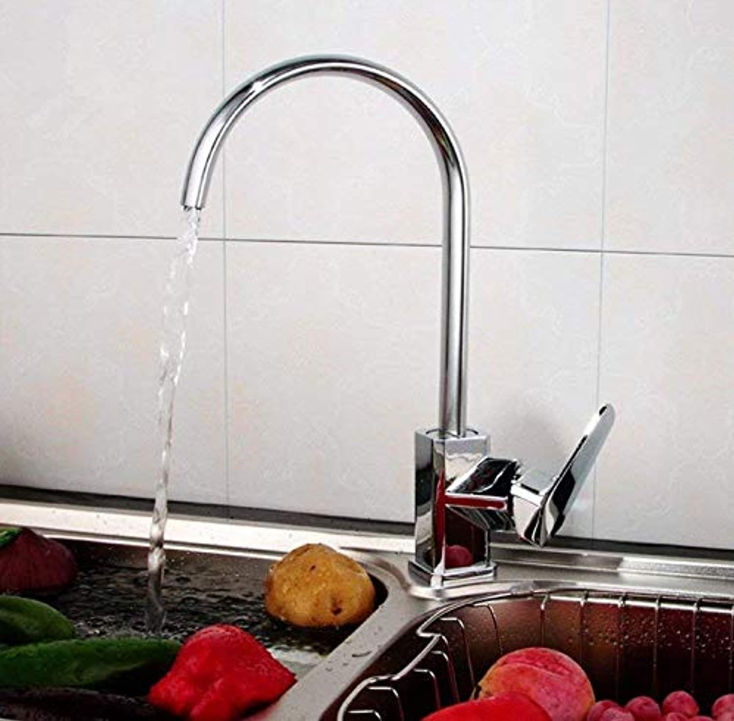 Kitchen Fauct Faucet Modern Copper Single Hole Casting Kitchen Sink Hot and Cold Tap greenical (color   -, Size   -)