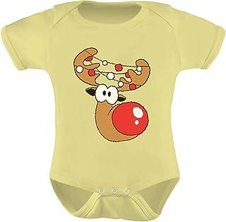 Tstars - Cute Reindeer Lights Bodysuit Christmas Baby Bodysuit