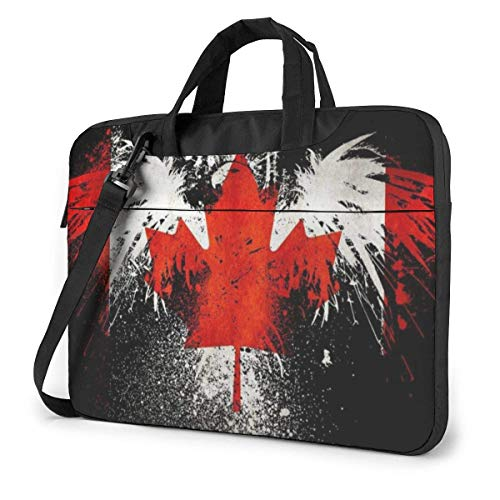 Eagle Canada Flag Bolso Bandolera para Laptop, Estuche para Laptop con Correa de 15.6 Pulgadas