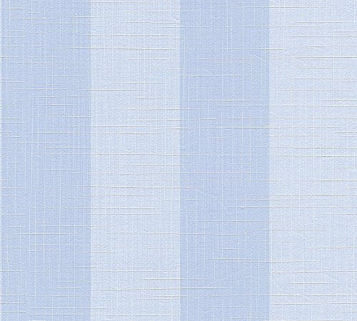 A.S. Création Vliestapete Côte d`Azur Tapete Streifentapete kariert grafisch 10,05 m x 0,53 m blau Made in Germany 354123 35412-3
