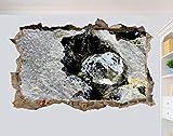 HQSM Pegatinas de pared La piedra original Póster mural de arte 3D Decoración...