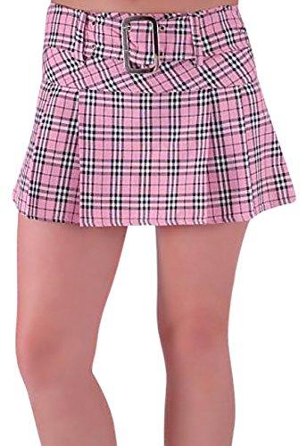 EyeCatchClothing - Megan Fashion Minirock Mini Rock mit Schottenmuster Pink Gr. 16 UK / 44 EU