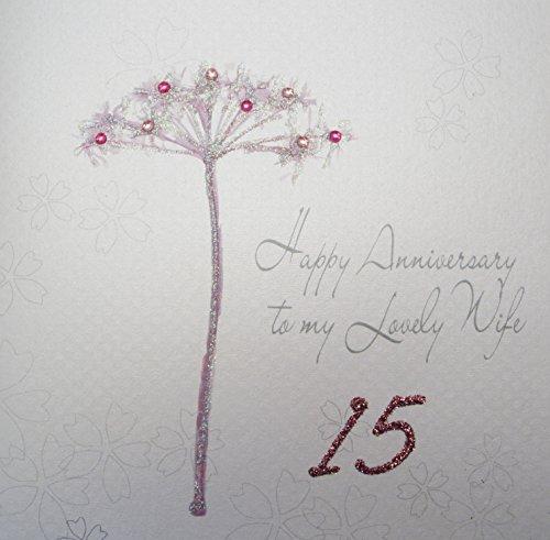 Witte katoenen kaarten BD 66-38.10 cm, Dandelion Happy Anniversary to My Lovely Wife