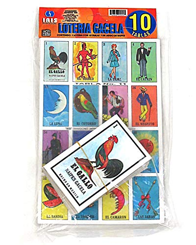 Mexican Bingo Loteria Game 10 Tablas By Gacela Buy Online In Belarus Loteria Leo Products In Belarus See Prices Reviews And Free Delivery Over 150 Byn Desertcart
