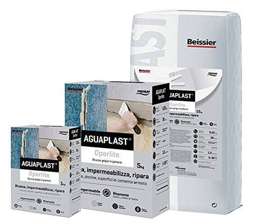 Aguaplast - Operlite en polvo, 5kg, estuco impermeable listo para usar, sanea y protege de la humedad y del salitre- Estuco para piscinas y entornos húmedos y marinos