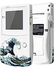 eXtremeRate Cover Scocca Tasti Custodia Pulsanti Shell Ricambio per Gameboy Color GBC Console-Compatibile con IPS V2&Standard LCD-NON Include Console&IPS Schermo(Grande Onda)