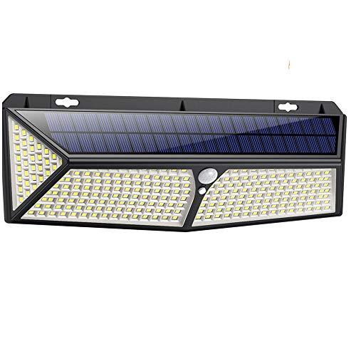 Solarlampen für Außen 288LED mit USB-Aufladung,iPosible Solar Bewegungsmelder Aussen Solarleuchten für Außen 2500Lumen Solar Aussenleuchte mit Bewegungsmelder IP65 Wasserdichte für Garten