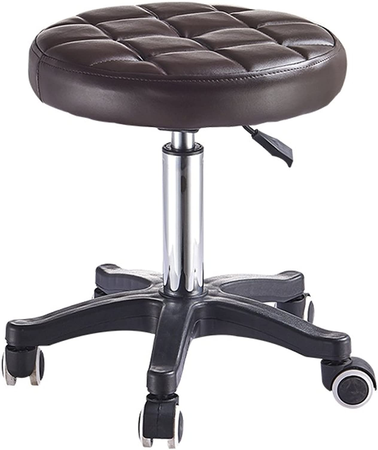 Height Adjustable Rolling Swivel Stool Chair with Round Seat Heavy Duty Base for Salon,Massage,Factory,Workshop,Counter,Kitchen (color   5)