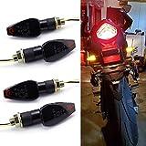 Luz de flecha para motocicleta, luces intermitentes, indicador LED de motocicleta, intermitente, lámpara ámbar para bicicleta de calle, crucero y chopper, scooter para bicicleta de tierra