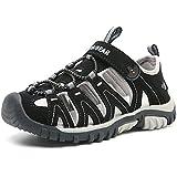 Boys Outdoor Closed-Toe Breathable Summer Kids Athletic Sport Sandals Lightweight-Black-dd