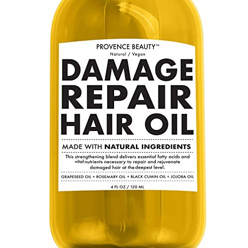 Repairing Hair Treatment Oil - Grapeseed, Rosemary, Black Cumin and Jojoba Oil - Restores Shine and Volume For Dry or Damaged Hair, Stimulates Hair Growth - 4 Fl Oz